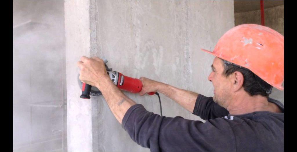Шлифовка бетона болгаркой