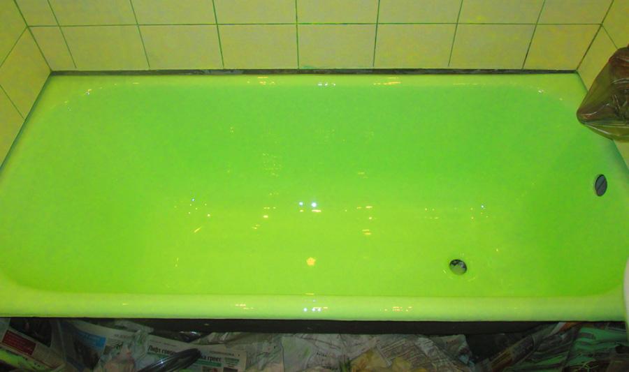 Цветная ванна, реставрация ванн жидким акрилом