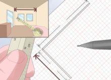 Выполняем замеры и составляем план ванной комнаты