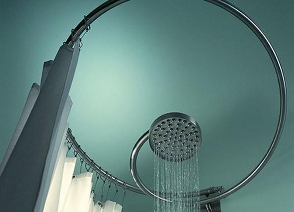 Штанга для шторы радиальная в ванную