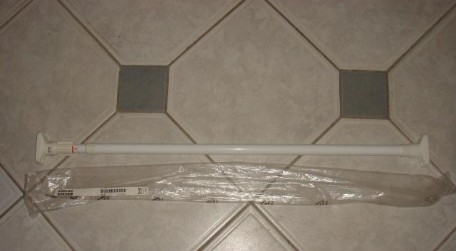 Телескопическая штанга для шторы в ванну 80-140см