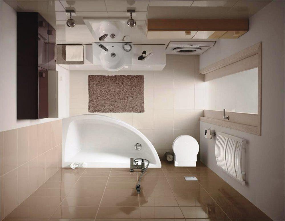 Ванна в форме капли удачно вписывается в интерьер, позволяя освободить место под биде или унитаз