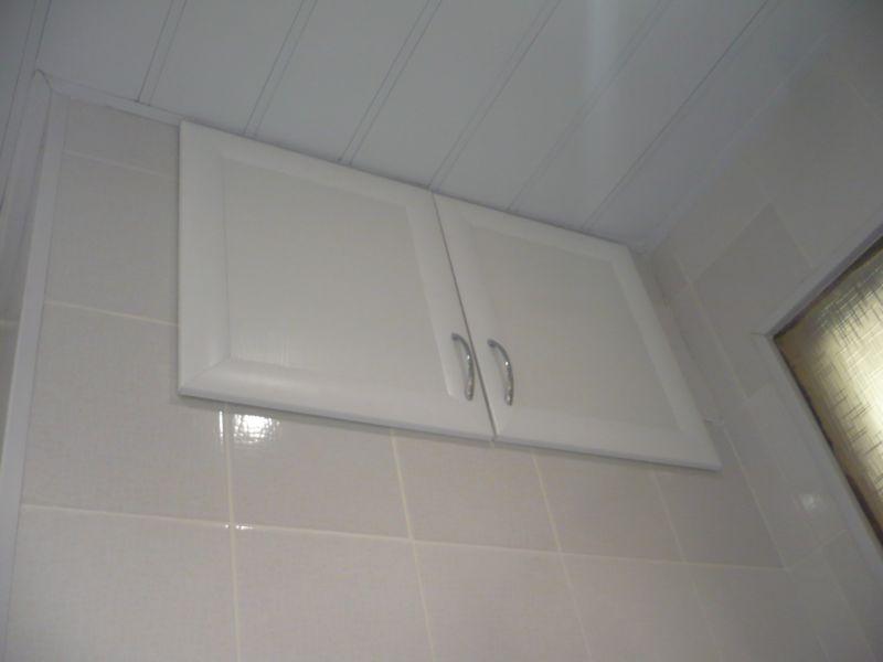Встроенная антресоль для ванной