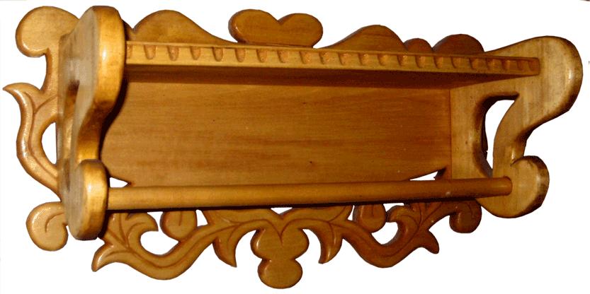 Деревянная полка для полотенец