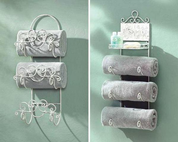 Компактные способы хранения полотенец в ванной