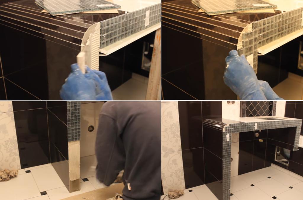 Столешница в ванную из гипсокартона своими руками 53
