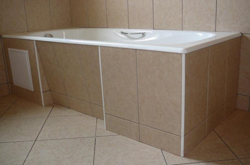 Установка ванны с последующей облицовкой плиткой