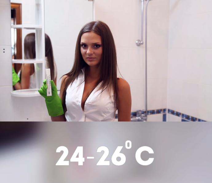 Убедитесь, что в ванной комнате оптимальный температурный режим