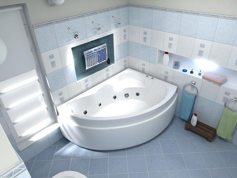 Акриловая угловая ванна Bas Лагуна 170x110 (правая)