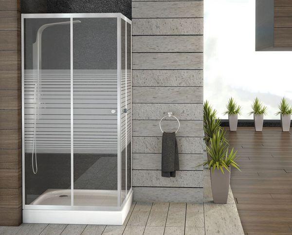 Душевой поддон в интерьере ванной комнаты