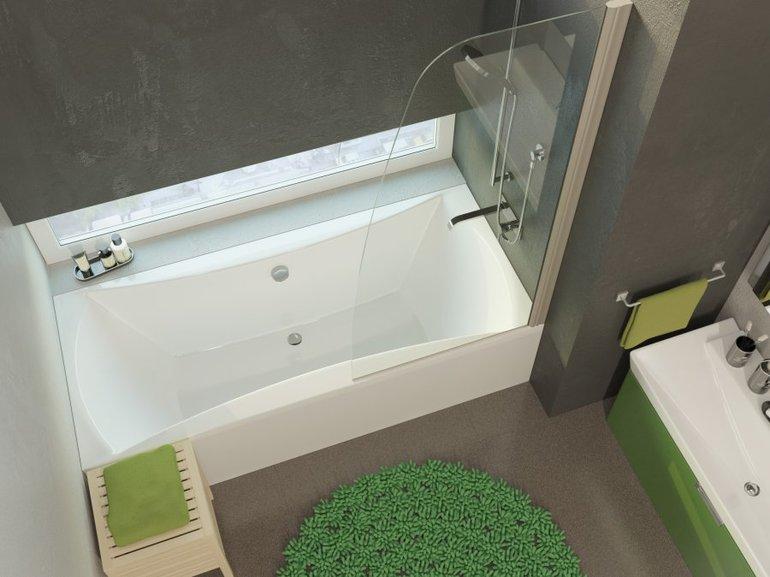 Интерьер ванной комнаты, настенный смеситель