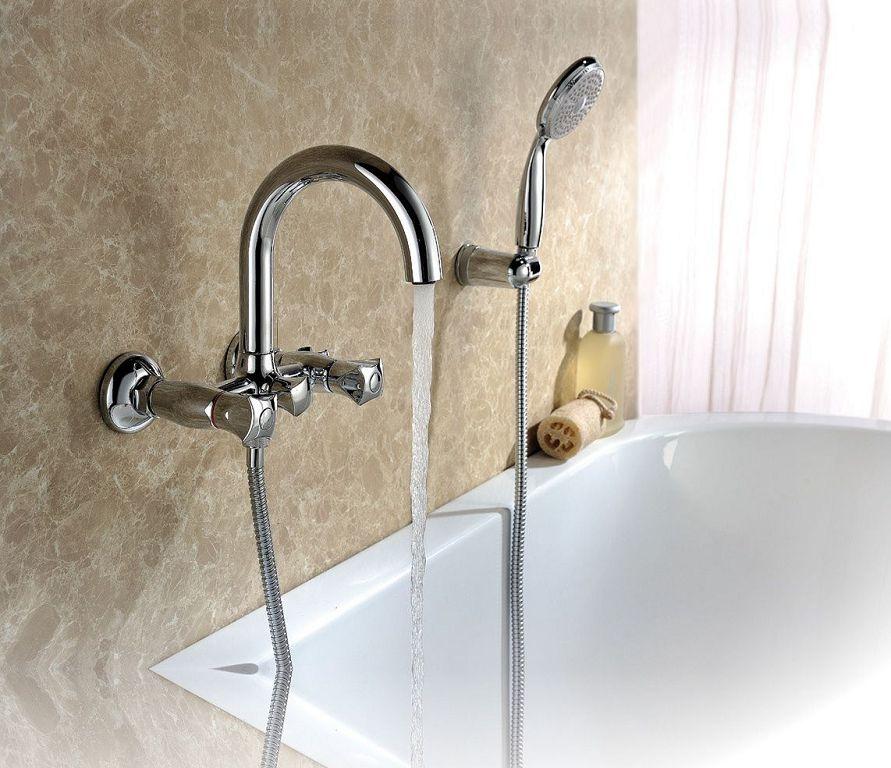 Lemark Pallada - смеситель для ванны с душем с поворотным изливом