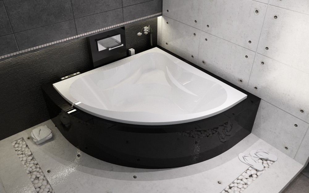 NEO 150x150 полукруглая угловая акриловая ванна (RIHO)