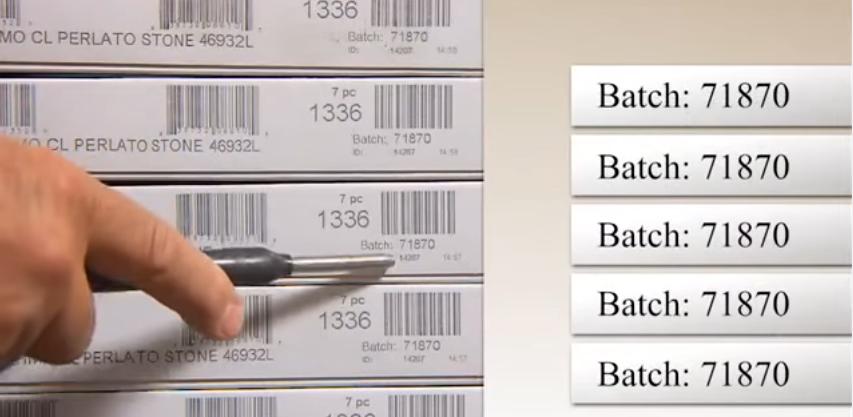 Плитка ПВХ должна быть из одной партии, проверьте информацию на упаковке