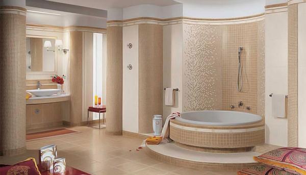 Пример декоративной отделки ванны