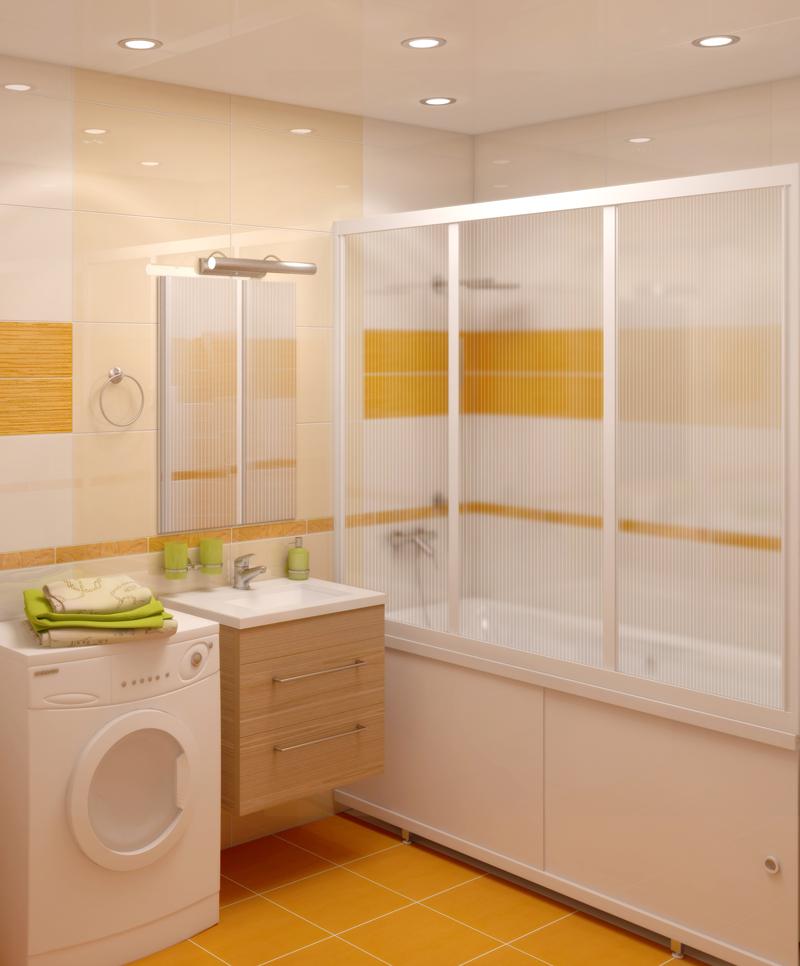 Ширму из поликарбоната желательно протирать сухой тряпкой после каждого принятия ванны