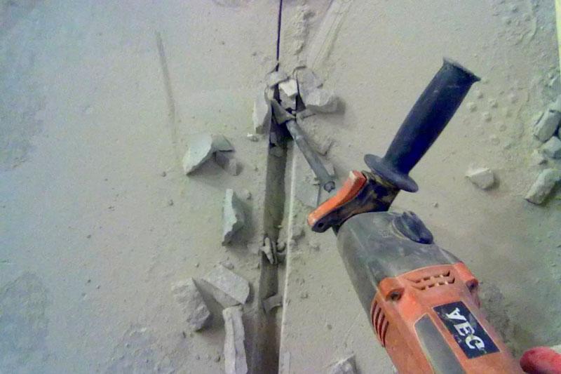 Как сделать штроб перфоратором