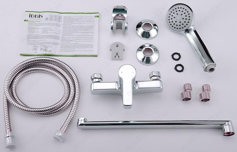 Смеситель для ванны с длинным изливом с керамическим дивертором