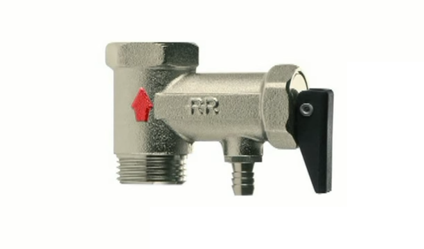 Стрелка на обратном клапане показана красным цветом