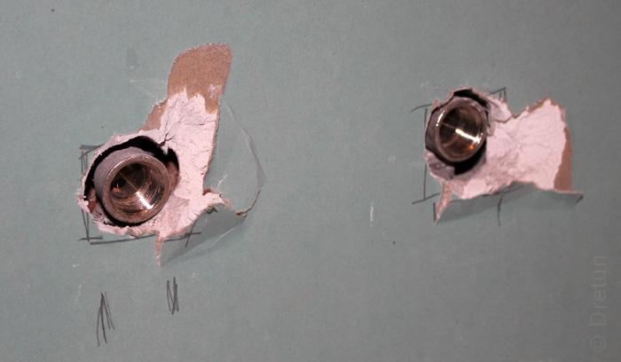 Водорозетки установлены с учетом толщины финишной отделки