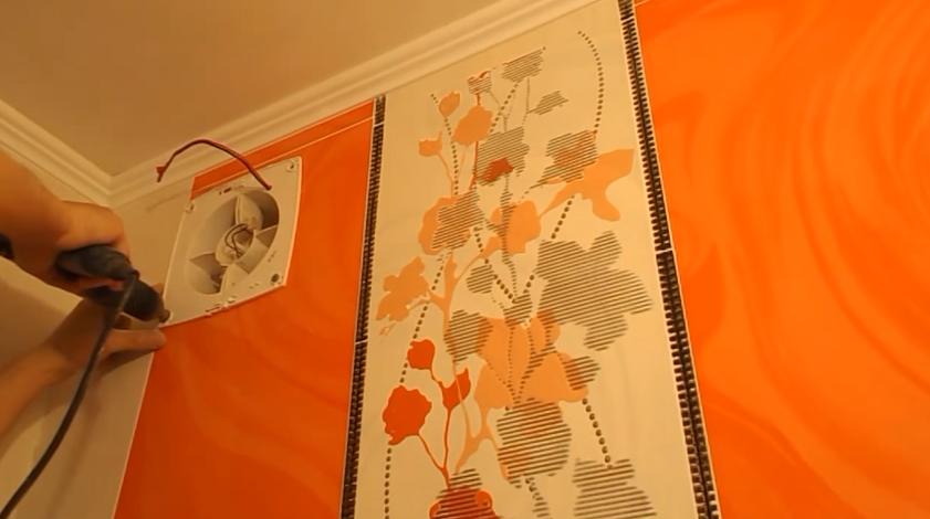 Крепление вентилятора к стене