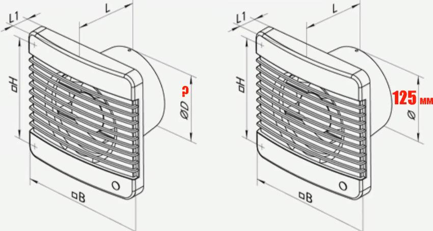 Стоит проверить диаметр вентканала заранее