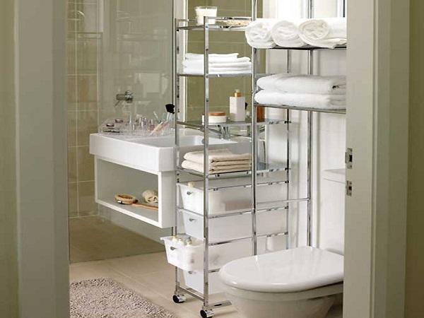 Напольные и навесные полки для ванной