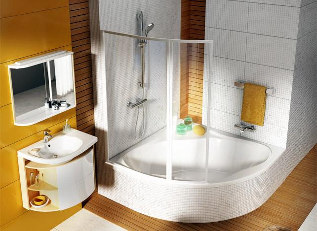 Симметричная угловая акриловая ванна Ravak New Day