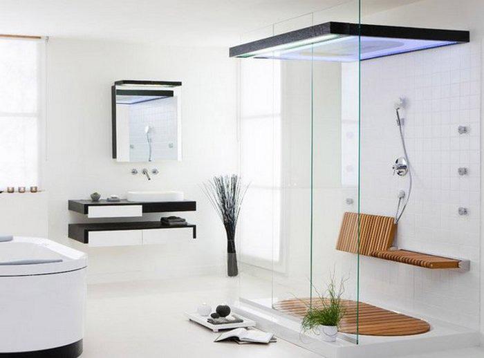 Свобода ощущаемая в пространстве - это изюминка ванных в стиле минимализма