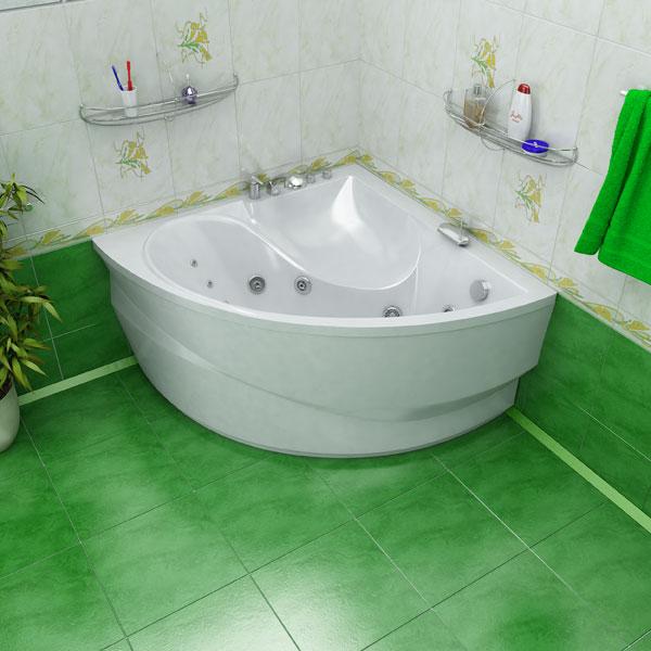 Угловая ванна из акрила