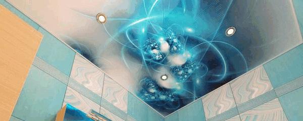 Абстрактный рисунок в голубых тонах