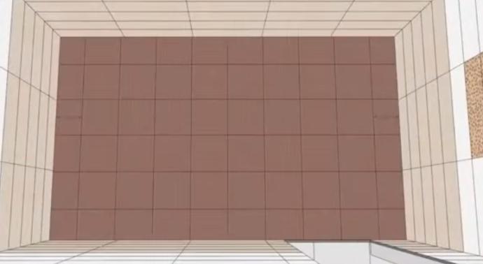 Пример раскладки квадратной плитки