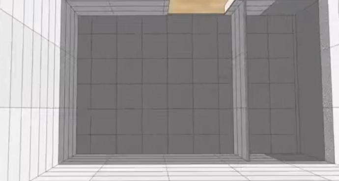 Пример раскладки плитки в ванной комнате