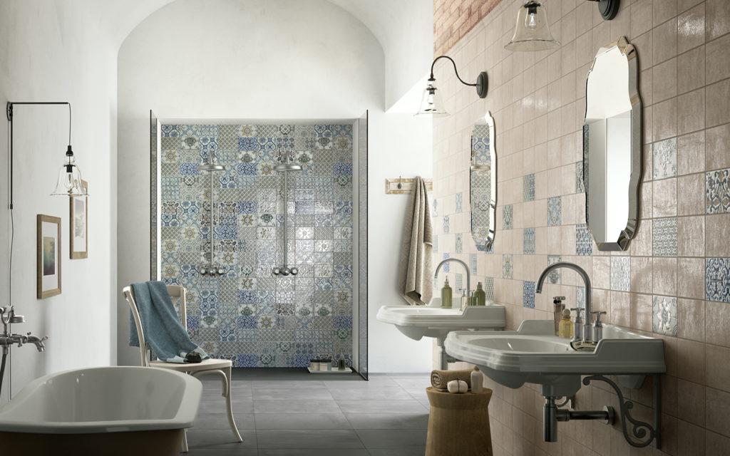 Пример стильной отделки ванной комнаты