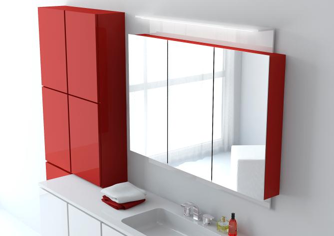 Шкаф с распашными дверцами и зеркалами