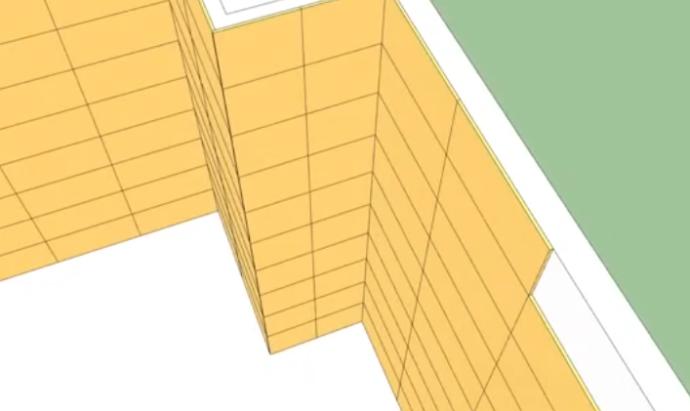 Схема облицовки короба