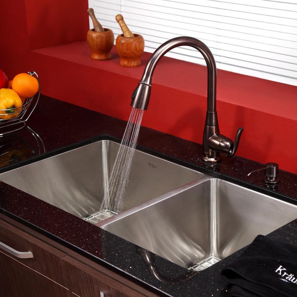 Смеситель Kraus KPF-2230ORB для кухонной мойки