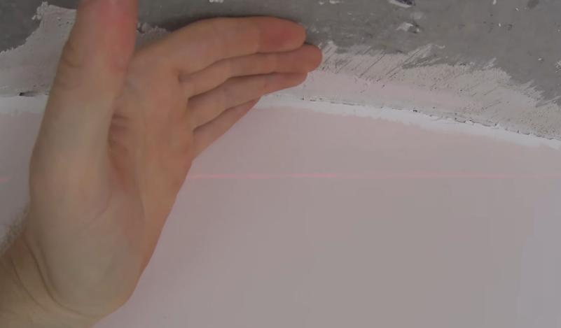 Высота лазера от потолка минимум 5 см
