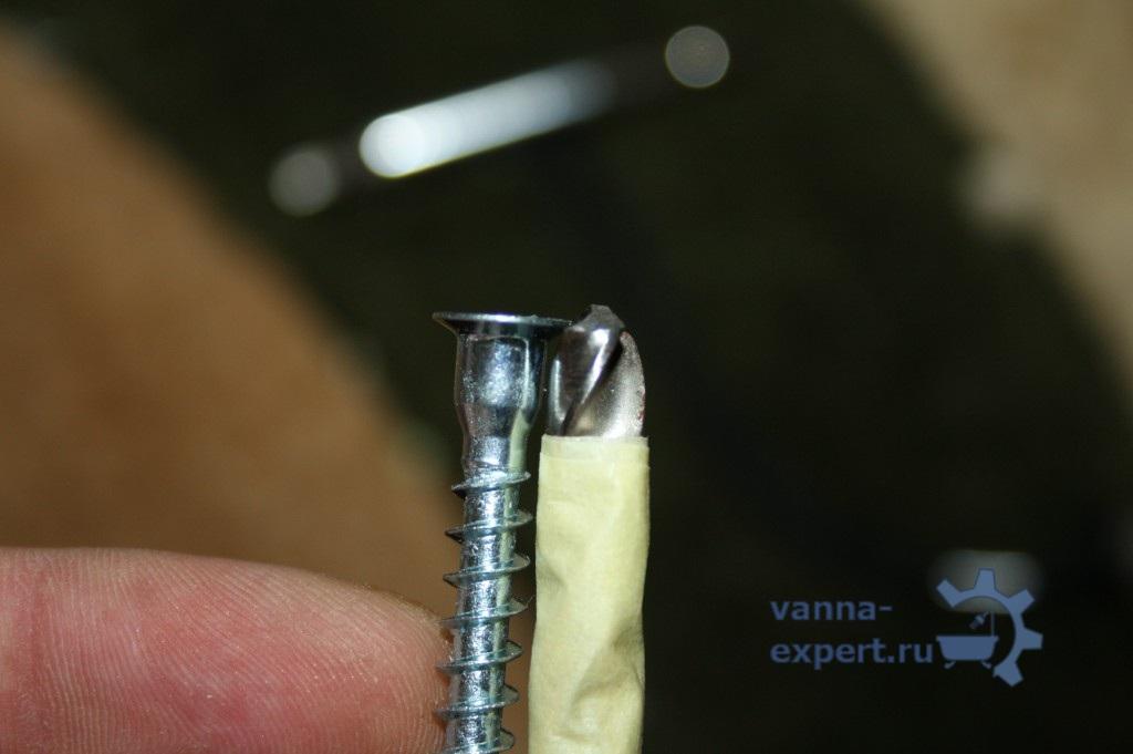 Конфирмат и сверло на 7 мм