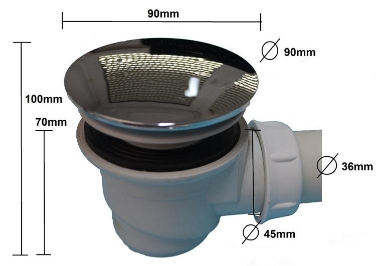 Чтобы приобрести подходящий сифон, нужно точно знать его размеры и диаметр сливного отверстия