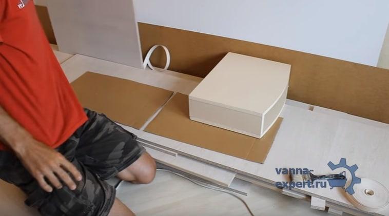 Ящик, который мы будем использовать для закрепления полки