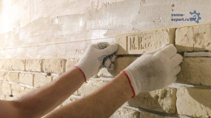 Способ укладки камня с расшивкой
