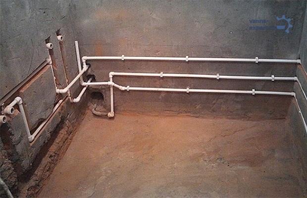 Разводка труб в квартире под установку ванны