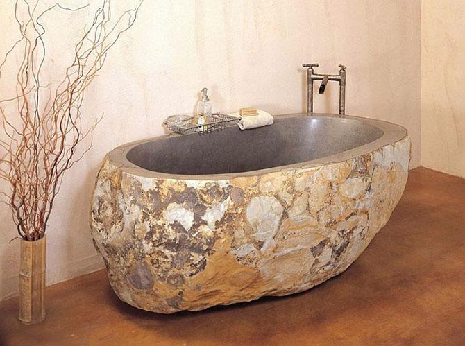 Элитная ванна из камня для ценителей эксклюзивных интерьеров